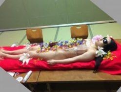 昼間の木更津で女体盛り宴会